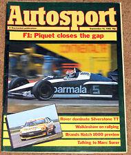 Autosport 15/9/83* ITALIAN GP - TWR ROVER VITESSE -MARC SURER POSTER & INTERVIEW