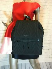 NWT Authentic KATE SPADE Large quilted flap backpack ellie black WKRU5825