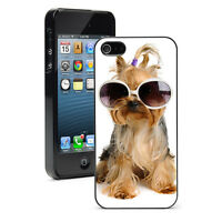 For Apple iPhone X SE XS Max XR 6 7 8 Plus Hard Case Cover 12 Yorkie in Glasses