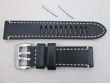 Genuine Luminox 23mm Field Automatic 1809 black leather watch band Series 1800