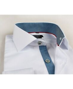 Herren Hemd YVES ENZO in weiß Slim Fit  Shirt tailliert