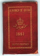 ALMANACH DU GOTHA année 1881 édition originale chez JUSTUS PERTHES