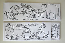 100 Pack Of Zoo And Dinosaur Color Me Paper Soda Jerk Hats Free Shipping