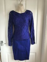 BNWT Ted Baker Vendela Lace Top Mid Blue Fitted Dress-Wedding - Ted Size 0/UK 6