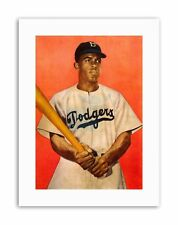JACKIE ROBINSON BASEBALL BROOKLYN DODGERS Picture Vintage Canvas art Prints
