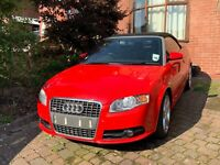 2007 07 Audi A4 Cabriolet 2.0TFSI S-Line Red Black Leather Black Roof Alloys
