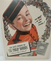 PHILIP MORRIS CIGARETTES 1940 VINTAGE MAGAZINE AD