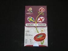 2012 euro 2012 Billete De Suecia v Inglaterra