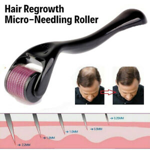 Hair Regrowth Micro-Needling Roller Stimulates Hair Growth 540 Titanium Painless