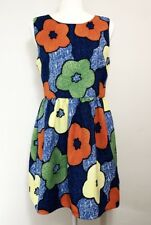 HYPR Womens Sleeveless Floral Fit Flare Poppy Print Size Large