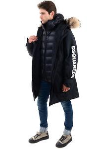 RRP€1420 DSQUARED2 SKI Down Parka Jacket Size 52 / XL Raccoon Fur Trim Hooded