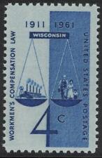 Scott 1186- Workmen's Compensation Law, Wisconsin- MNH 1961 4c- US mint stamp