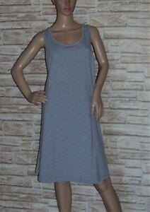 Sheego Damen Jerseykleid hellgrau A-Linie Baumwoll-Stretch-Qualität