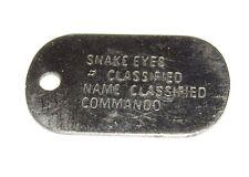 Gi Joe Snake Eyes Commando Mini Dog Tag Classified - RARE HTF