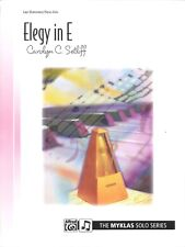 Elegy in E Late Elementary Piano Solo Sheet Music Carolyn Setliff Myklas