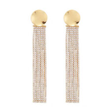 ed00261c 2018 New Jewelry Gold Alloy Crystal Tassel 925 Silver Drop Earrings