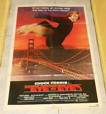 original AN EYE FOR AN EYE one-sheet poster Chuck Norris Richard Roundtree Mako