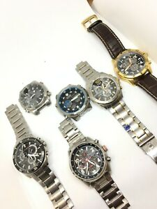 JOB LOT 6 x Citizen Gents  Eco Drive Stainless Steel Watches SPARE/REPAIR