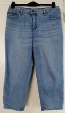 Sheego cropped blue jeans size 14