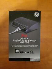 GE Pro 4 Device Audio Video A/V Switch with S Video 38807 by Jasco 6814 New