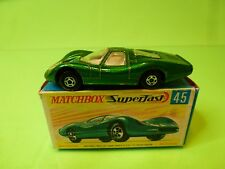MATCHBOX 45  SUPERFAST FORD GROUP 6 - RACE CAR No 7 - GREEN - VERY GOOD IN BOX
