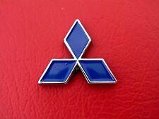 "MITSUBISHI SMALL BLUE METAL DIAMOND 35mm BADGE 1 3/8"" Emblem ~ Lancer"