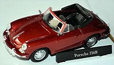 PORSCHE 356B Cabriolet 1959-63 ROSSO BORDEAUX ROSSO METALLIZZATO 1:43
