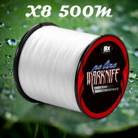 8 Strands Japan 6-300LB Super Strong PE 500M Multifilament Braided Fishing Line