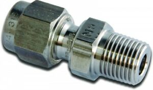 """M8MSC1/2K-316 Parker A-LOK Stainless Metric Male Connector OD 8mm x BSPT 1/2"""""""