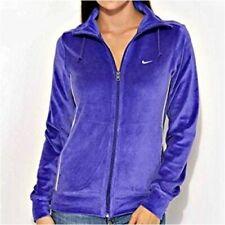 Vintage Nike Womens  Hoodie Jacket Velvet Zip Up