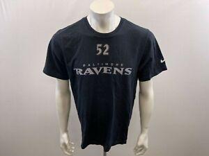 Baltimore Ravens NFL #52 R. Lewis Men's Nike T Shirt Size Large Black Crew Neck