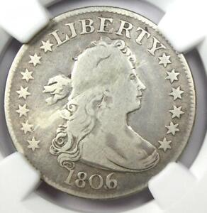 1806/5 Draped Bust Quarter 25C Coin - Certified NGC VG Details - Rare Coin!