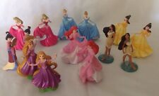 Disney Store Princess PVC Figure Cake Topper Lot Set of 14 - 2 of each princess