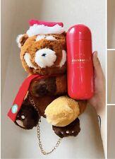 Starbucks China 2020 Christmas Red 13oz Stainless Tumble & Little Panda Bag Set