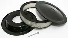 """14"""" Round Black Air Cleaner w/ 3"""" Filter Fits Holley Edelbrock Rochester Carbs"""