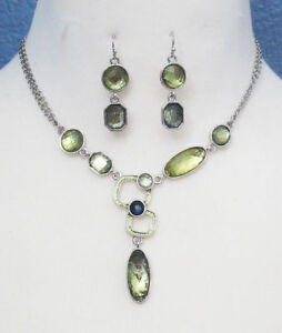 M110 Lia Sophia Jewelry Necklace and Earrings set
