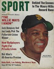 October 1962 Sport Magazine - Willie Mays San Francisco Giants HOF Raymond Berry