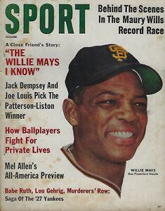 October 1962 Sport Magazine - Willie Mays San Francisco Giants HOF Raymond Berry