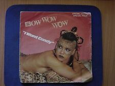 45 Bow Wow Wow  I Want Candy Single Sided Laser Etched Disc UK Pressing VGC