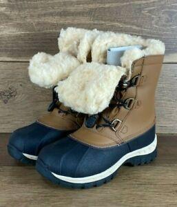 BearPaw Kelly Hickory Waterproof Sheepskin/Wool Youth Unisex Winter Boots