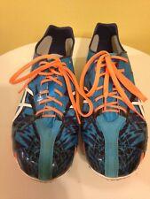 Asics Break Your Record Track Spikes Shoes Turquoise White Neon Orange Men's 9