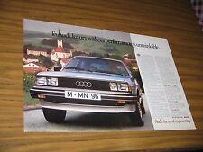 1982 Print Ad Audi Luxury Performance Cars Art of Engineering