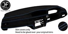 BLUE STITCH FULL DASHBOARD KIT LUXE SUEDE COVER FOR BMW E90 E91 E92 E93 SATNAV