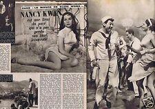 Coupure de presse Clipping 1960 Nancy Kwan (2 pages)