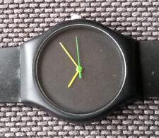 RARE Black Golden Wonder Watch. Orange Hands. Water Resistant.