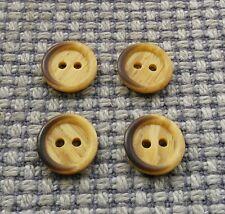 4 pequeños botones Camisa de Efecto Madera Marrón 12mm tarjeta de ropa de bebé muñeca haciendo Crafts