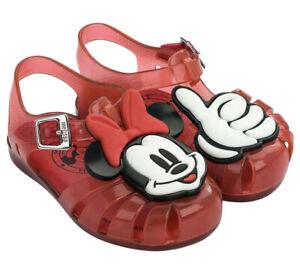 Mini Melissa Mini Aranha Mickey Minnie Mouse Sandals Toddler Little Girl  Sz 6