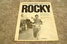 ROCKY 1976 Oscar ad with Sylvester Stallone as Rocky Balboa jogging & training