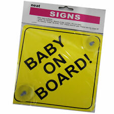 Car Child Safety Baby on Board Includes 2 x Suction Cups Yellow Vehicle Signs