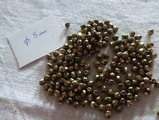 lot de 50 perle très ancienne en COTON doré diam 6 perle de passementerie modist